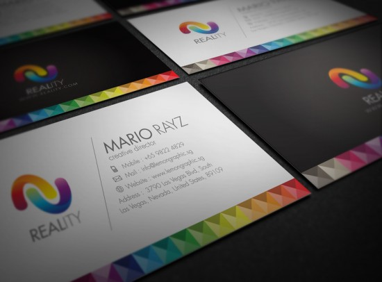 Reality Business card BIG 550x406 12 MultiColor Business Card For inspiration