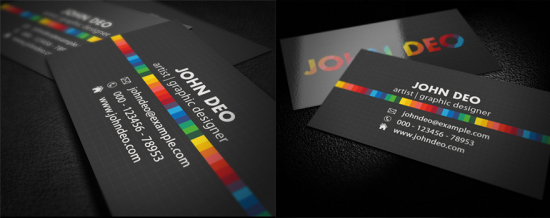full 550x218 12 MultiColor Business Card For inspiration