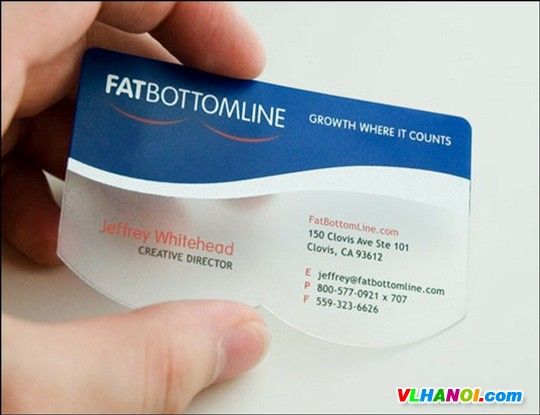 Translucent and Crystal Clear Business Cards